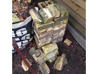 36 Suffolk white bricks , plus some plinth bricks