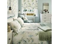 SOLD****LAURA ASHLEY RRP £120 BNWT KING Harewood DuckEgg Duvet Cover & 2 Pillowcase *Vintage country