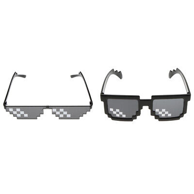 2x Novelty Party Mosaic Sunglasses Funny Glasses Party Cocktail Costumes ()