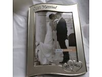 Mr & Mrs silver picture frame. 5 x 7 inches