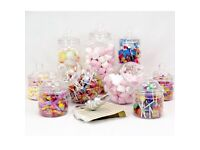 Sweet Jars - new and unused. Great for weddings and parties