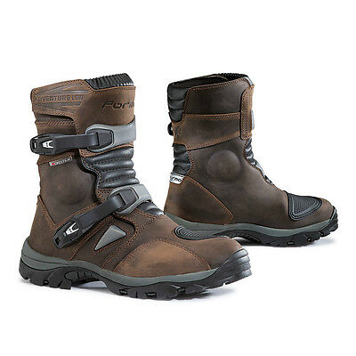 Forma Adventure Low motorcycle boots, mens, brown, black waterproof touring - Forma Motorcycle Boots