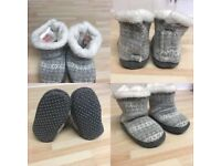 Baby Girls Pile-lined H&M slipper boots (size 20/21)