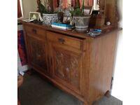 Antique oak dresser sideboard with mirror...