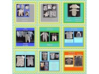 Bag of first size baby boy clothes