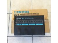 Boss BE5- Mixture of boss analogue & digital effects in one unit. Eighties rock sounds in one box!