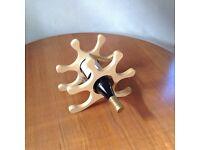 Wooden/ Metal Worktop Wine Rack.