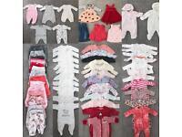 Tiny Baby & Newborn Girls Clothes Bundle Joblot