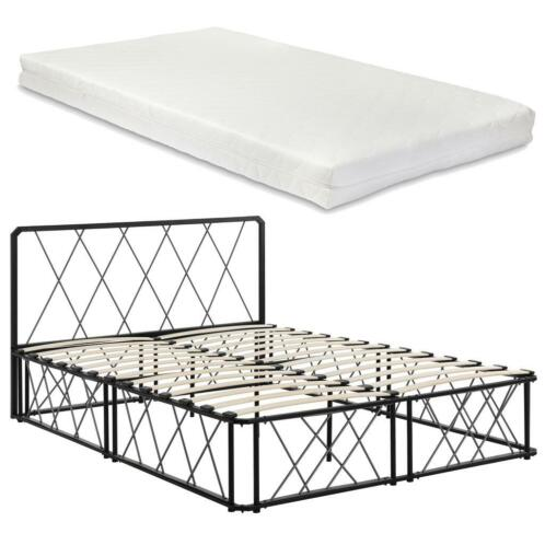 Metalen Frame Bed.En Casa Metalen Frame Bed Met Matras 140x200cm