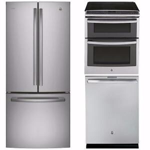 LIQUIDATION! Combo Cuisine Stainless : Frigo 30'', Cuisinière 30'' et Lave-vaisselle 24''