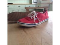 Vans trainers red size 5