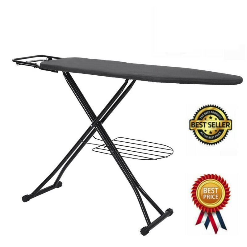 High Quality 48in Large Steel Ironing Board With Iron Rest A