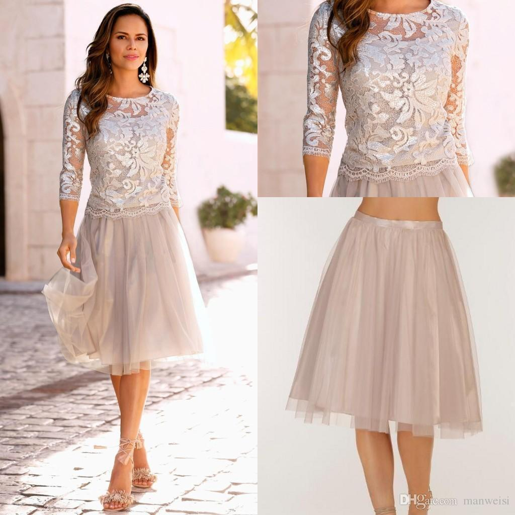 Knee Length Mother Of The Bride Dresses Evening Party
