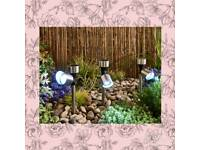 Solar spot lights set of 3