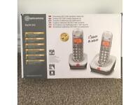 Amplicomms Big Tel 202 Dual Cordless Phone