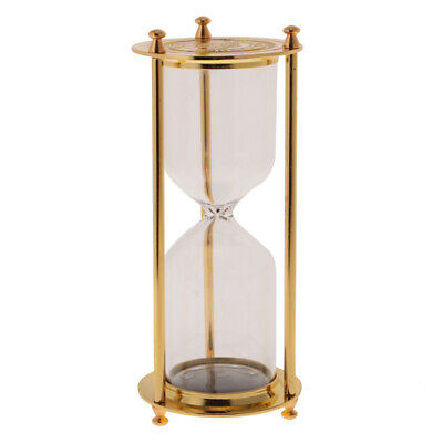Retro Metal Empty Hourglass Sandglass Sand Timer Home Office Decor Gold S