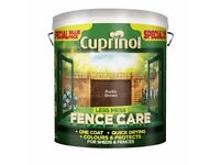 Cuprinol Fence Care...Rustic Brown...New...Unopened...10 Litres