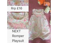 Rrp £16 Next girls playsuit/romper size 3-4 years