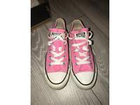 pink converse size UK 4