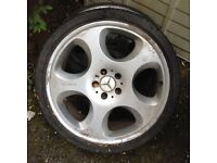 2 Mercedes brabus wheels with tyres £200 Ono and 2 Vauxhall vet wheels no tyres £100 ono