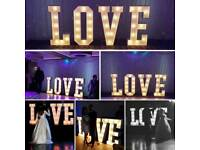 November/December £100 OFFER - 4FT CARNIVAL LOVE LIGHTS.