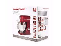Morphy Richards 400007 Diecast Heavy Duty Stand Mixer 800W Red - NEW - Box damaged