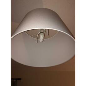 Large white lampshade