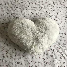 New Look Fluffy Heart Cushion - New With Tags