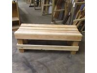 NEW Handmade wooden bench
