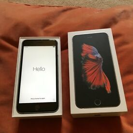 IPHONE 6S PLUS 16 GB MINT CONDITION WITH BOX, CHARGER AND EARPHONES EE