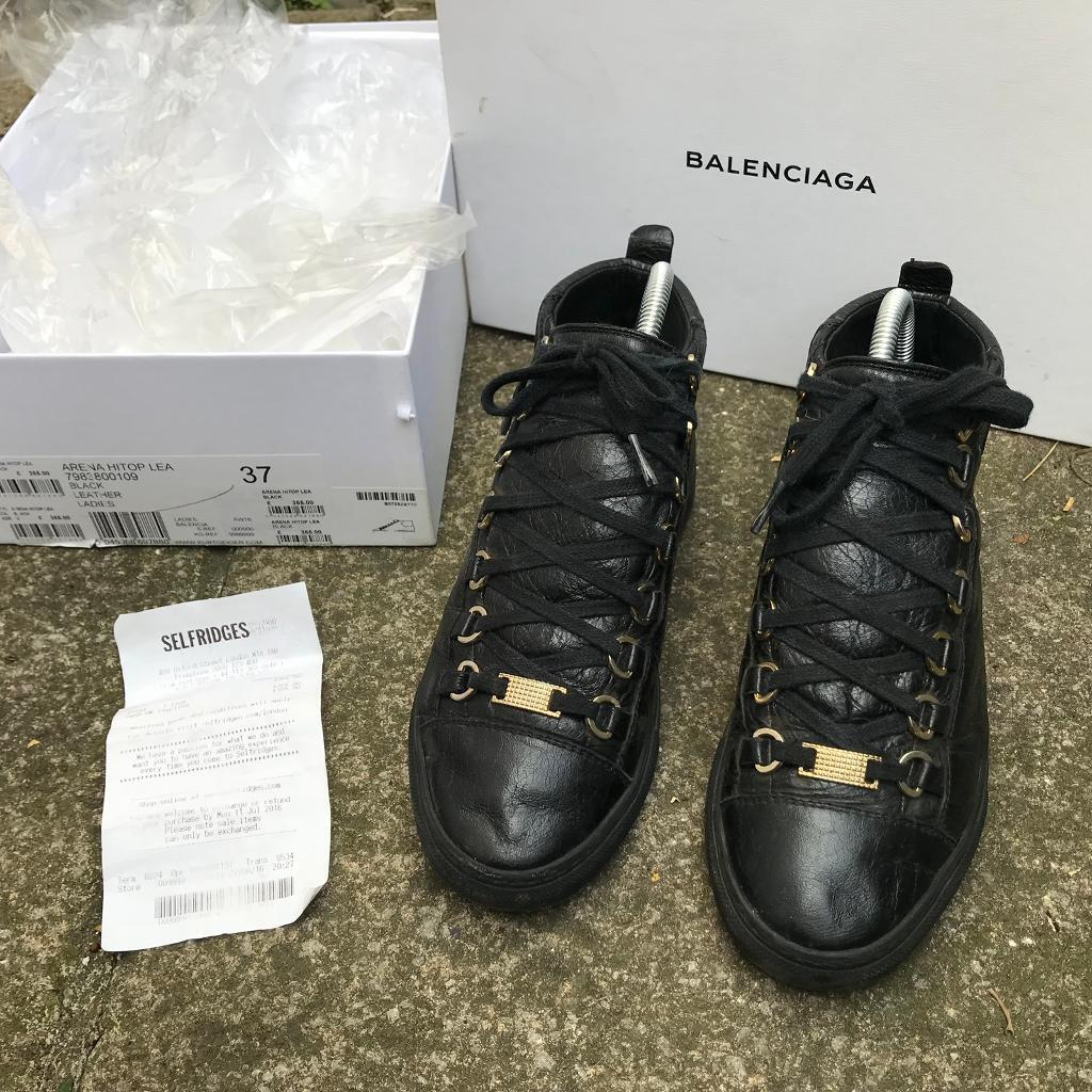 Balenciaga high top arena trainers size 4 | in Newham, London | Gumtree