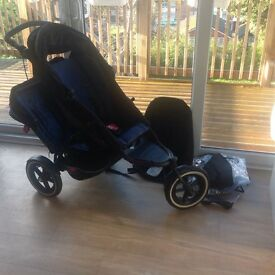 Phil & Teds Navy/ Black Explorer Double Buggy