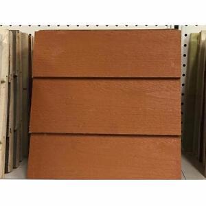 Revêtement extérieur en bois - embouveté V-joint - Teint cuivre
