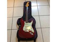 Futurama Stratocaster with Ritter gig bag