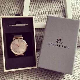 Abbott Lyon rose coloured watch