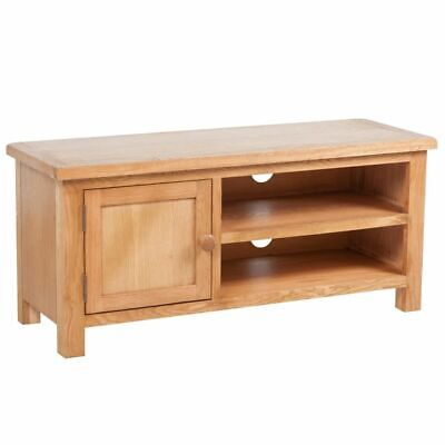 vidaXL Solid Oak TV Cabinet Stand Unit Riser Entertainment Center Side - Solid Oak Tv Stands