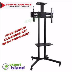 "Prime Mounts PMD-910B Portable TV Floor stand on Wheels fits 32"" to 65"" for Offices, Classrooms,Trade Shows, Homes etc.."