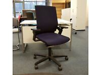 Purple Mesh Back Operators Chair