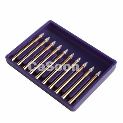 10pcs Dental Carbide Tungsten Burr Burs Fg 7404 Polishing Drills Egg Shape