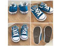 Blue Converse pumps, junior UK size 6