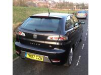 2007 (07) seat Ibiza 1.9 tdi FR, black, 3door, 6 speed £950 no offers