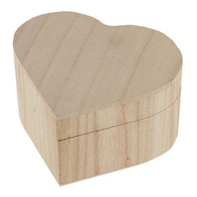 Herzform unvollendete Holzkiste Schmuck Geschenkbox Fall mit Schloss für