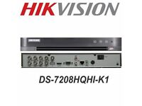 HIKVISION 8 CHANNEL CCTV DVR WITH 1 TB HARD DRIVE 1080P FULL HD TURBO SYSTEM 3MP UK DS-7208HQHI-K1