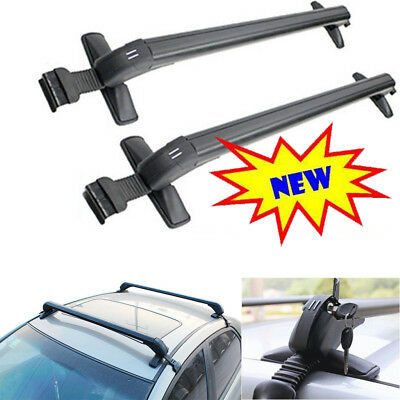 Lockable Anti Theft Roof Bars Universal Fit For Cars No Rails Rack Locking Bar