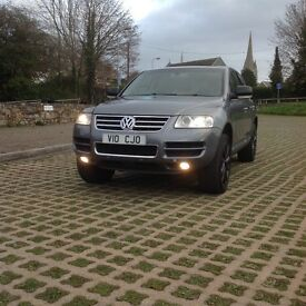 "VW Touareg V10 TDI, lovely condition, slate grey with black 20"" rims"