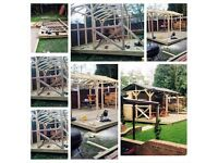 all carpentry, handyman servises: garden buildings as decking, summerhouses and much more
