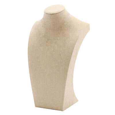 Necklace Pendant Display Bust Mannequin Jewelry Display Stand Linen 1525cm