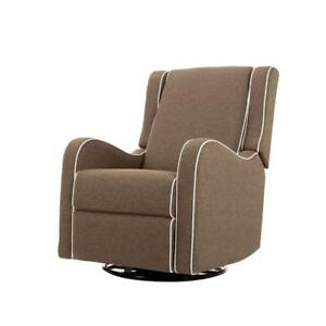 Kidiway Alice Rocking Glider - Brown with White Piping *new in box*
