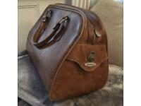 Vintage Antler Leather Luggage Bag