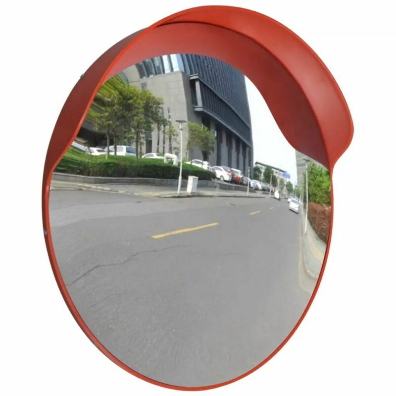 "vidaXL Convex Traffic Mirror PC Plastic Orange Outdoor Driveway Safety 18""/24"""